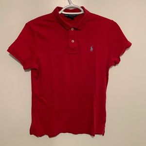 Ralph Lauren red Slim fit large polo shirt sleeve